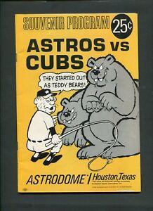 1967 Houston Astros Vs Chicago Cubs MLB Baseball Program Astrodome 999332