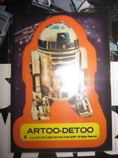 STAR WARS VINTAGE CARD TOPPS STICKERS ARTOO-DETOO N°6 1977 SERIE 1 RARE USED