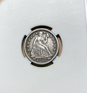 1853 Seated Liberty Silver Dime - High Grade - ARROWS AT DATE - Seated - 10c
