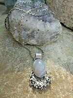 ausgefallener alter trachten anhänger mit achat+ 80cm kette silber925 v juwelier