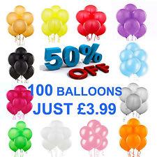 "LARGE Latex Helium Balloons Ballons 100X10"" INCH Party Wedding Birthday BALOON"