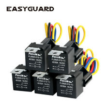 EASYGUARD SPDT car Relay Automotive Relay with Socket Wires 12V 30/40 AMP 5pin(5