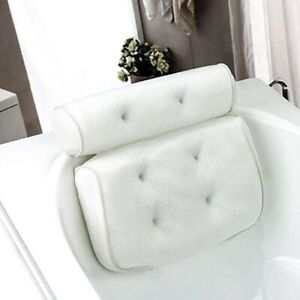 Breathable 3D Mesh Spa Bath Pillow with Suction Cups Neck and Back Support Spa