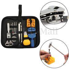 13pcs Watch Repair Tool Kit Zip Case Holder Opener Remover Wrench Screwdrivers