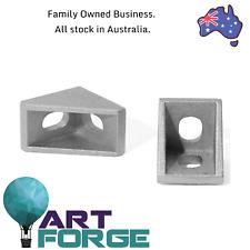 10 x 2020 Cast Aluminium V-Slot Extrusion L Shape Corner Joint Angle Bracket