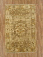 "Hand-Made  5'7"" x 8'9"" Peshawar Hand-Knotted Wool 6X9 Area Rug"