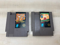 VOLLEYBALL GOLF NES Nintendo Original Classic  Authentic 5 Screw Game LOT 2X