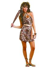 LADIES CAVE WOMAN FANCY DRESS COSTUME LEOPARD ANIMAL PRINT SEXY CAVEWOMAN OUTFIT