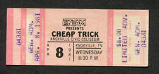1981 Cheap Trick Unused Full Concert Ticket Knoxville Tn Dream Police