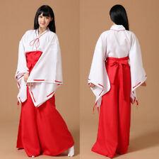 Lolita Inuyasha Kimono Dress Japanese Geisha Cosplay Halloween Robe Gown Costume