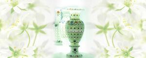 "14"" Exclusive White Marble Flower Vase Grill Inlay Design Wedding Gift Decor"