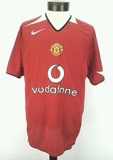 Manchester United NIKE Red Short Sleeve Jersey Shirt Soccer Football Vodafone M