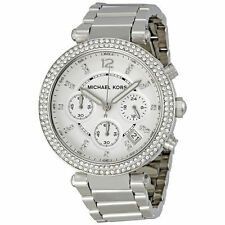 MICHAEL KORS MK5353 PARKER CRYSTAL SILVER WATCH - RRP £229