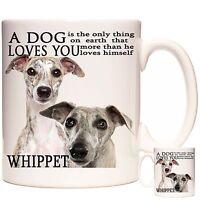 WHIPPET MUG, Can Be Personalised, Dishwasher Safe, 11oz Ceramic Mug