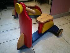 DJECO Scooter multicolore porteur Draisienne Tricycle triporteur