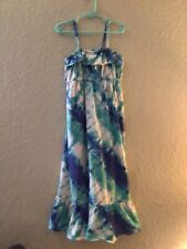 Old Navy Tie Dye Maxi  Knit Sun Dress Size 7-8 Multi-colored