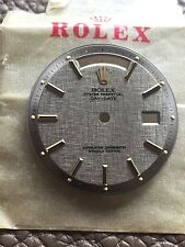 Vintage Rolex Day Date President Grey Linen Factory Dial For 1803 Watch 1802 NOS