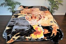 ☀️Thick Soft Heavy 11 POUND Korean Mink Style Queen Reversible Blanket TIGERS 1