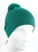 Diesel chinus femme homme Bonnet tricoté avec pompon maille épaisse Vert Tricot