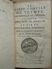 CHANUT : LE SAINT CONCILE DE TRENTE, 1686. 3 portraits.