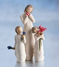Willow Tree Mother with Two Daughters Figurine Gift Set Family Group