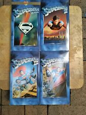 Superman VHS Movie Collection Volumes 1-4