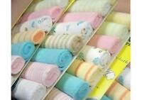 8pcs Soft Baby Infant Newborn Bath Towel Washcloth Bathing Wipe Cloth Soft
