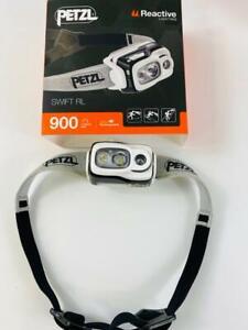 Petzl Swift RL, aufladbare, schwarze Stirnlampe mit satten 900 Lumen, Kopflampe
