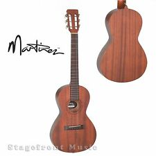 MARTINEZ MAHOGANY PARLOUR GUITAR ACOUSTIC/ELECTRIC MMZ-4P-NST