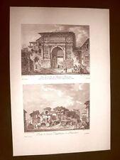 Benevento Arco di Traiano e Antico Anfiteatro Voyage Pittoresque di Saint Non