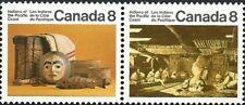 Canada    # 571a  Tagged  PACIFIC INDIANS   Brand New 1974 Pristine Original Gum