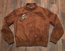 NEW Armani Emporio Collezione Men's Tan Brown Suede Leather Jacket • MEDIUM 50