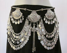 Kuchi Tribal Belly Dance Coin Tassel BELT Boho Gypsy Skirt Dress Costume Jewelry