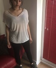 ALL SAINTS Cream Oversized Dita Top / T Shirt/ UK Size 8