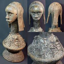 Art Africain masque de tête cimier ancien reliquaire Fang Gabon 56cm rare déco