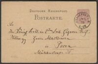 1875-GANZSACHE-FRANKFURT(ODER) NACH POSEN