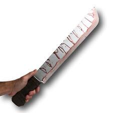 Bloody Machete Movie Prop PU vs Jason Halloween Horror Weapon Jungle Knife Rambo