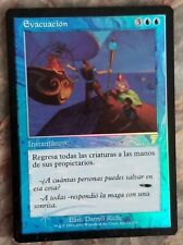 Foil Spanish Evacuation MP 7th Edition Misprint MTG Magic