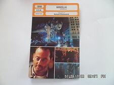CARTE FICHE CINEMA 1998 GODZILLA Matthew Broderick Jean Reno Hank Azaria