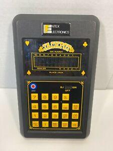 Vintage Entex Jackpot Black Jack Gin Rummy Electronic Handheld Game 1980 TESTED