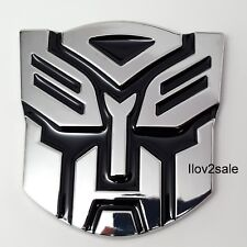 New TRANSFORMERS CAR BADGE AUTOBOT 3D CHROME STICKER EMBLEM DECAL LOGO