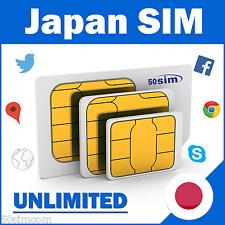 7 Days Japan Unlimited Data Prepaid SIM Card TARJETA SIM JAPON 4GLTE 3G Speeds