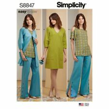 Simplicity Pattern S8847 | Misses Tunic Dress Top Pants Jacket 6-14 & 16-24 NEW