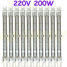 10 HALOGEN LIGHT BULB 220-240V 200W 200 WATT J TYPE T3 118mm (R7s) Halogen Bulbs