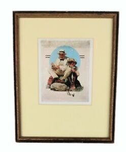 Vintage Norman Rockwell Framed Catching the Big One August 3, 1929