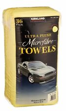 36 Pack Kirkland Eurow 40cm Microfibre Super Plush Ultra Soft Cloth Towels NEW