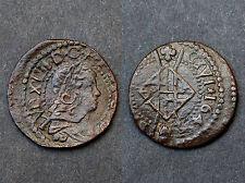 Sizain 1643 Franco-Catalanes, Louis XIV° au buste drapé. SUP. Cuivre