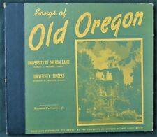 Songs of Old Oregon 1950s University Band / Singers 78 Records Box Set
