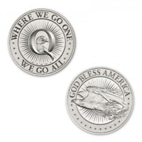 Limited Mintage Qanon Where We Go One, We Go All 1 oz .999 Silver Round NEW