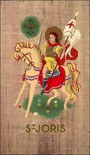 SANTINO HOLY CARD St JORIS in stile icona su carta